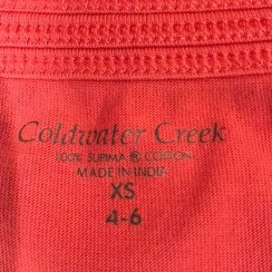 Coldwater Creek Tops - 2 T shirts Coral and green